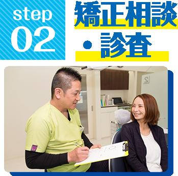 Step2.矯正相談・診査