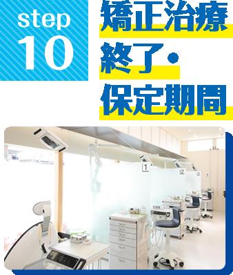 Step10.矯正治療終了・保定期間